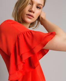 Blusa in misto seta Rosso Granatina Donna 191TT2075-04