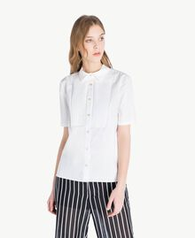 Cotton shirt White Woman TS8211-01