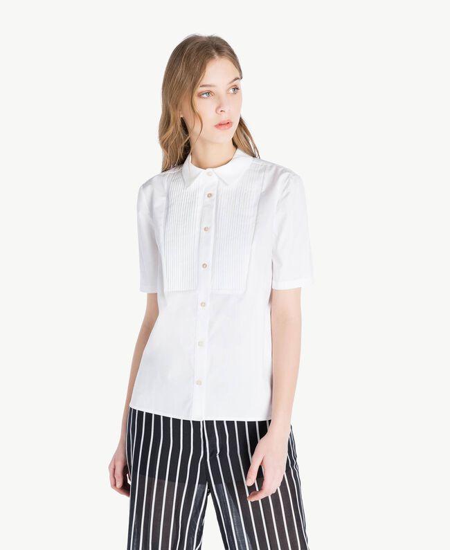 Chemise coton Blanc Femme TS8211-01