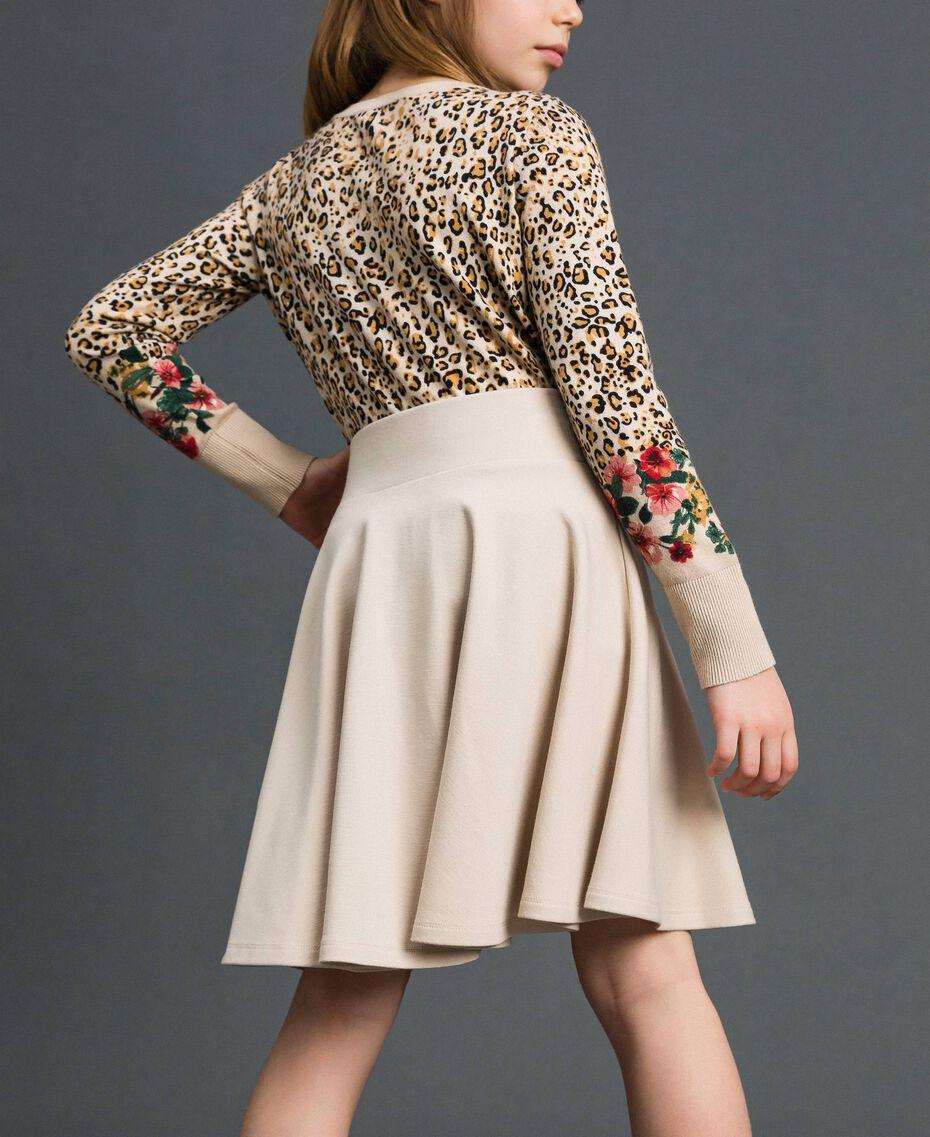 Pleated full skirt Oat Child 192GJ2131-03