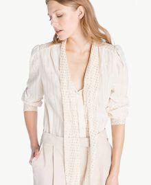 Camicia jacquard Bicolor Grigio Medio Melange / Oro Chiaro Donna TS8261-04