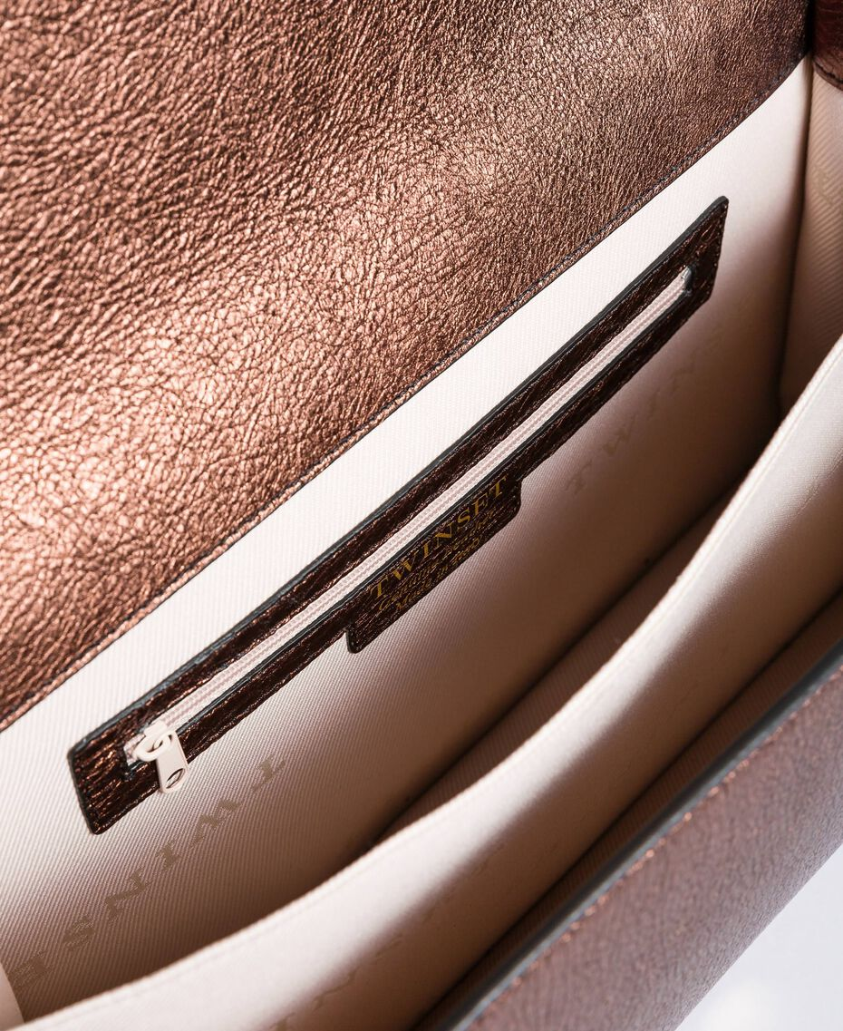 Umhängetasche aus mehrfarbigem Metallic-Leder Mehrfarbig-Metallic Frau OA8TDA-05
