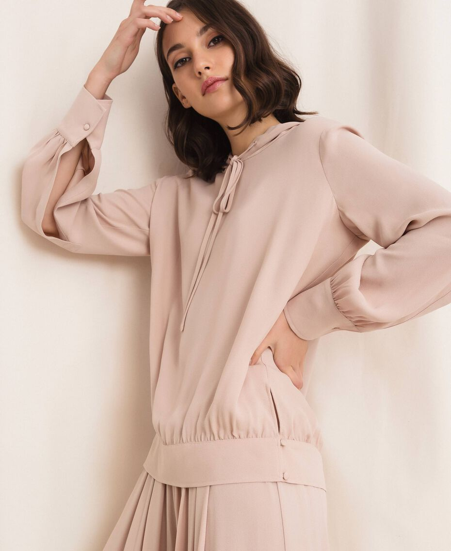 Georgette hoodie Moonlight Beige Woman 201LL2NFF-01