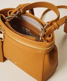 Kleine New Cécile Bag aus Lederimitat Golden Yellow Frau 202TB7181-05