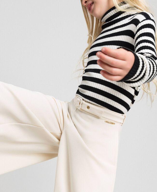 Pantalon palazzo avec ceinture Avoine Enfant 192GJ2451-03