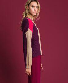 Pull en mélange de laine et alpaga Rose «Rose Brillant» Femme 192MT3074-02