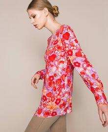 Blouse avec imprimé floral Imprimé Reve / Roses Femme 201TQ2020-04