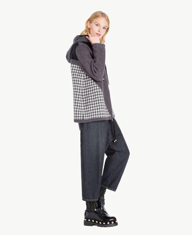 TWINSET Chaussures à lacet clous Noir Femelle CA7TGJ-04