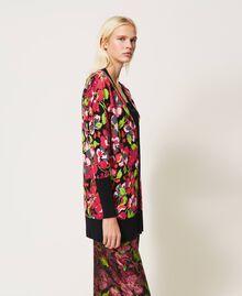 Maxi cardigan floral Imprimé Fleur Fuchsia Femme 202TP3503-05
