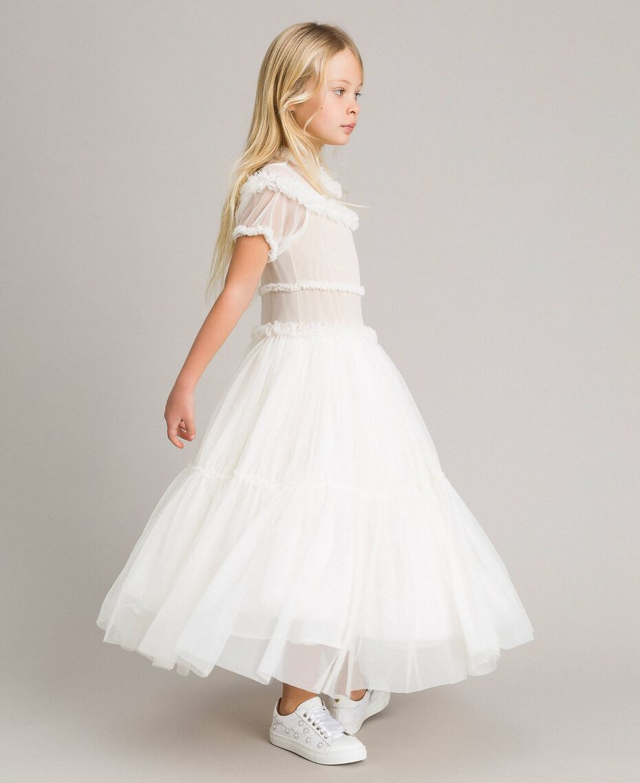 Abito lungo in tulle Chantilly Bambina 191GJ2Q20-02