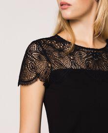 Robe fourreau avec dentelle Noir Femme 201TP212A-04