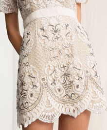 Lace dress with embroidery Ivory Woman 201TP2462-04