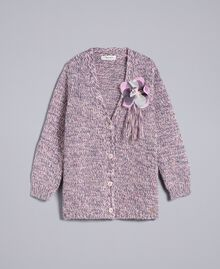 Maxi cardigan in mouliné yarn Multicolour Jacquard Child GA83EN-01