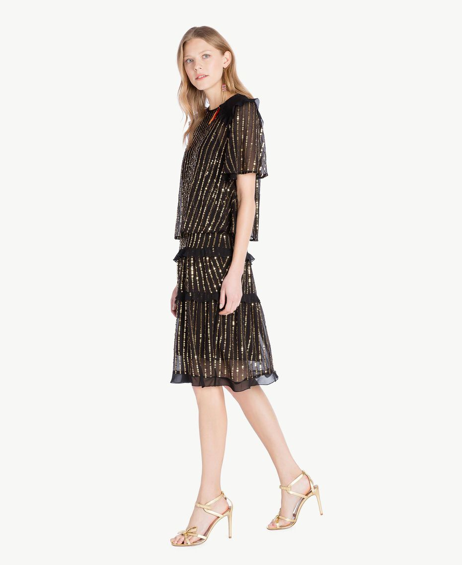 Sequin dress and blouse Black Woman TS82WP-02