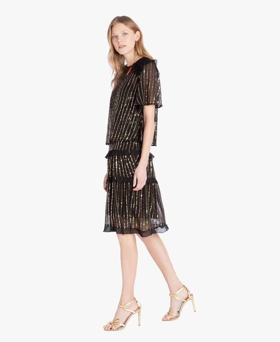 Robe et blouse paillettes Noir Femme TS82WP-02