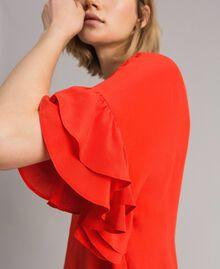 Blusa in misto seta Rosso Granatina Donna 191TT2075-01
