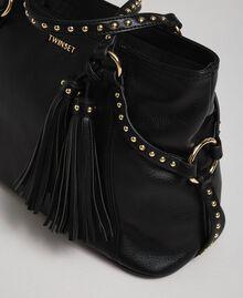Cabas en similicuir avec clous Noir Femme 192TO8160-02