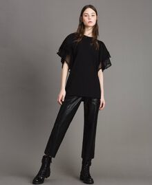 Pantaloni in similpelle Nero Donna 191TP2550-02