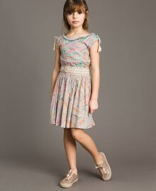 Muslin dress with paisley print Paisley Print Child 191GJ2510-02