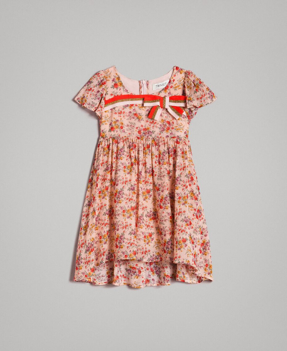 Floral georgette dress Mini Flowers Print Child 191GB2801-01