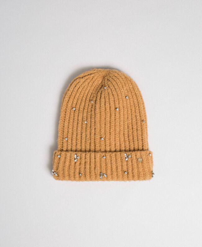 Bonnet en maille avec cabochons et logo Camel Femme 192TO5360-01
