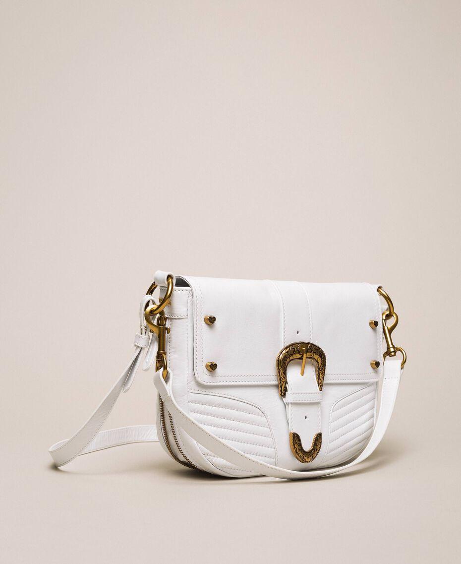 Large Rebel shoulder bag White Snow Woman 201TA723J-02