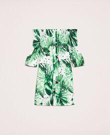 Kleid mit tropischem Print Print Tropical Tupfen Grün Kind 201GJ2302-0S