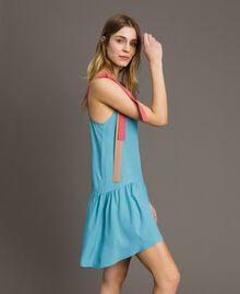 """Colour block mini dress Multicolour """"Tender Rose"""" Pink / Daylight Blue / Porcelain Beige Woman 191LM2HMM-02"""