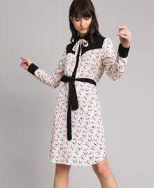 Robe chemisier avec imprimé flamants roses Imprimé Flamant Femme 191TP2760-04