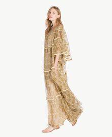Robe soie Imprimé Jaune Grand Cachemire Femme TS825P-02