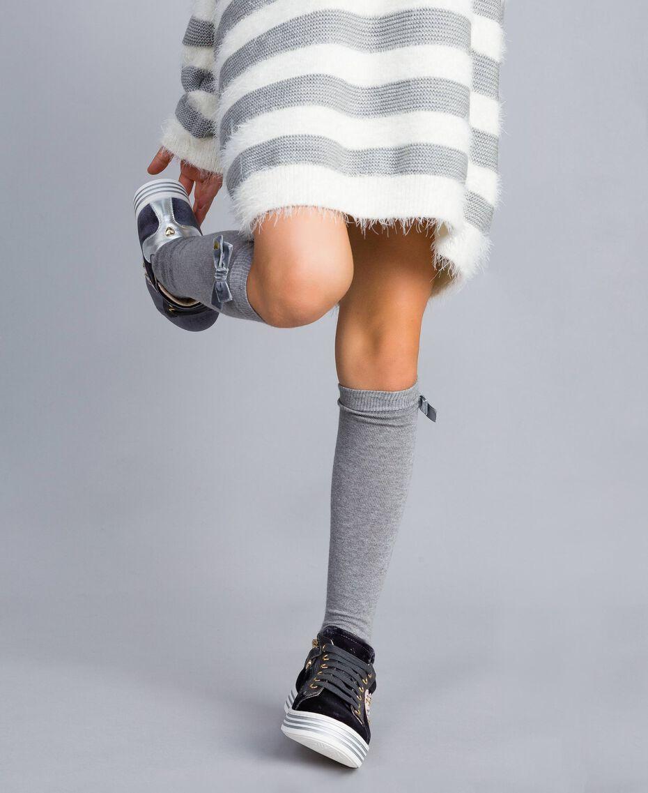 Velvet sneakers Graphite Grey Child HA88DN-0T
