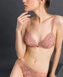 "Padded lace triangle bra Black / ""Dolly"" Pink Woman 192LI6422-01"