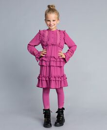 Jersey leggings with lace Pink Bouganville Child GCN2F4-02