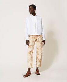 Poplin shirt with pleats White Woman 211TT245C-02