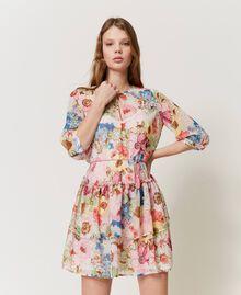 """Платье с цветочным принтом Принт Большой Цветок Розовый """"Розовая фуксия"""" женщина 211LM2JKK-01"""