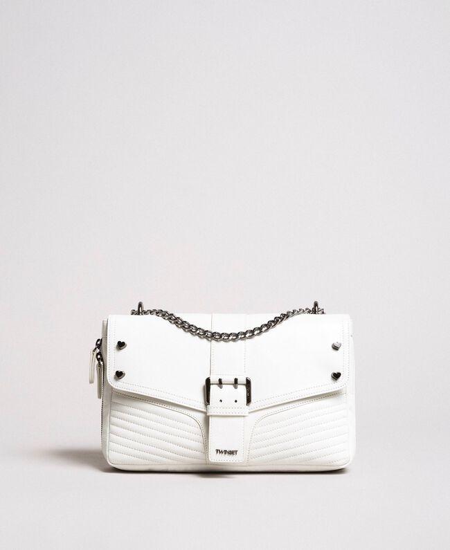 Sac à bandoulière Rebel en cuir Blanc Neige Femme 191TA7233-03