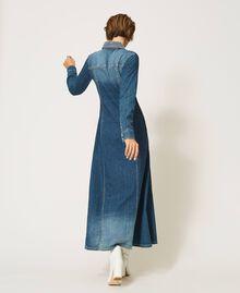 "Long denim dress with studs ""Mid Denim"" Blue Woman 202MP2470-04"