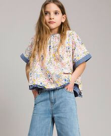 Muslin blouse with print Mini Stars Print Child 191GJ2531-04