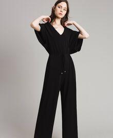 Combinaison avec pantalon palazzo Noir Femme 191LB22DD-02