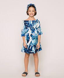 Kleid mit tropischem Print Print Tropical Tupfen Grün Kind 201GJ2302-01