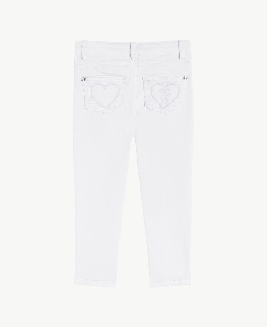 "Pantalon skinny Blanc ""Papers"" Enfant FS82CP-02"