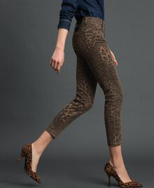 Jeans skinny con stampa animalier Stampa Animalier Donna 192MP2211-02