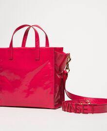 Cabas moyen en cuir avec logo Rose «Jazz» Femme 201TO8091-04