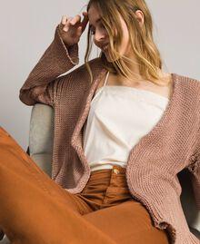 "Double-sided cotton cardigan ""Desert Rose"" Beige Woman 191MT3012-01"