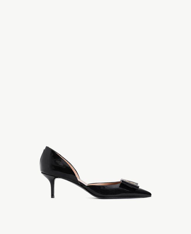 TWINSET Patent leather court shoes Black Female CA7PLU-01