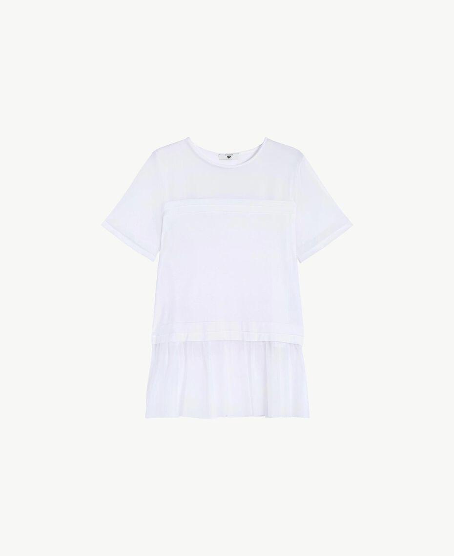 Maxi t-shirt tulle Blanc Femme BS82TT-01