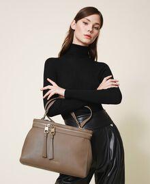 Große New Cécile Bag aus Lederimitat Taube Frau 202TB7180-0S