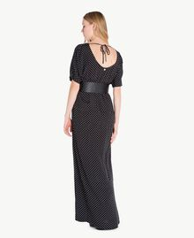 Polka dot dress Black Polka Dot Print / Ivory Woman PS8283-03