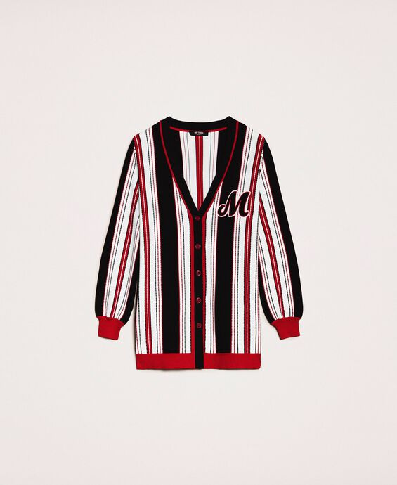 Striped maxi cardigan