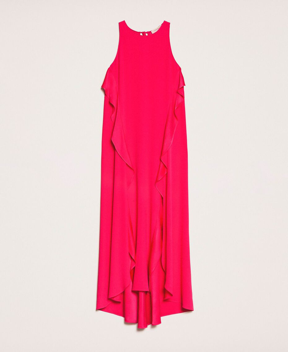 Long dress with frills Black Cherry Woman 201TP2434-0S